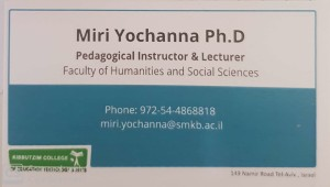 Miri Yochanna business card